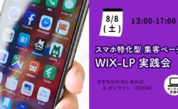 【8月8日(土)】スマホ特化型・集客ページWIX-LP実践会~デジアナ融合マーケティング実践会